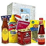 Monsterzeug Geschenkbox Grillweiltreise, Internationale Köstlichkeiten zum Grillen, Grillende Weltreise, Kulinarische Überraschungsbox, Grillsaucen, Grillgewürze, Grillabend