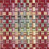 Gobelin Dekostoff Webkaro – rot — Meterware ab 0,5m — STANDARD 100 by OEKO-TEX® Produktklasse I — zum Nähen von Kissen/Tagesdecken, Gardinen & Tagesdecken