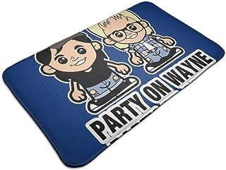 HUTTGIGH Waynes World Party On Wayne - Felpudo antideslizante para puerta de entrada de baño, cocina, alfombra de 19,5 x 3...