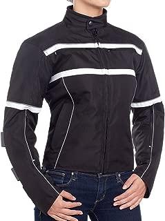 BILT Women's Helia Waterproof Vented Textile Motorcycle Jacket - 3XL, Black/White