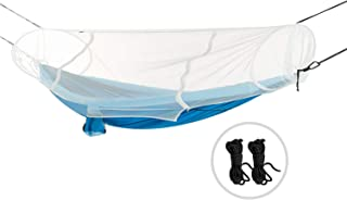 REDCAMP Single/Double Camping Mosquito Net for Sleeping Bag or Bed, Compact and Lightweight Hanging Triangle Pyramid Net, Black