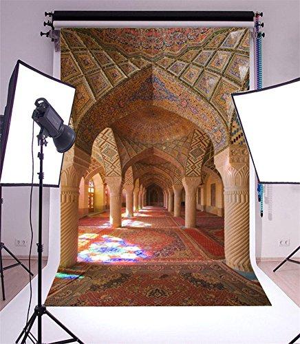YongFoto 3x5ft Fotografie Achtergrond Chruch Shiraz Iran Moskee Mural Schilderen Vintage Tapijt Interieur Foto Achtergrond Fotografie Video Partij Pasgeboren Kinderen Baby Photo Studio Props