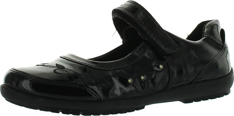 geox black school shoes