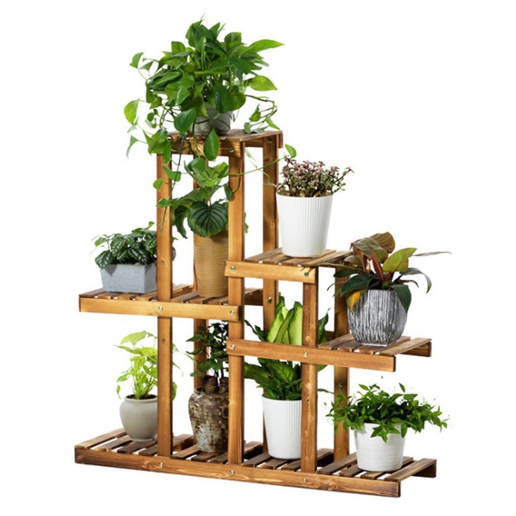 Estanteria para Macetas Stands para plantas de madera de cinco ...