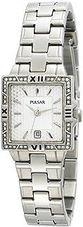 ساعة Pulsar النسائية PXT695 من الفولاذ المقاوم للصدأ