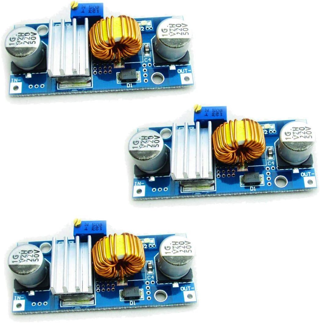 HiLetgo 3pcs XL4015 4~38V to 1.25-36V 5A DC-DC Buck Converter Step Down Module 5A DC-DC Adjustable Step-Down Module XL4015 4~38v 96%