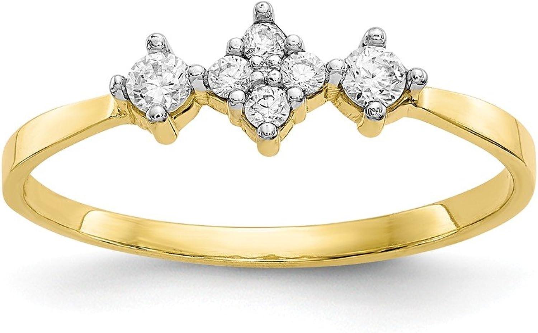 Beautiful Yellow gold 10K Yellowgold 10k CZ Ring
