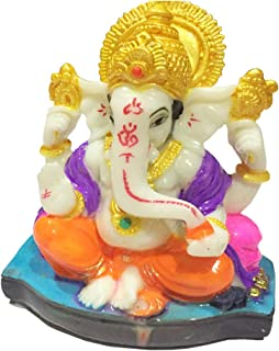 Satre Online And Marketing Big Lord Ganesha Statue Showpiece for Car/Home/Office Decoration (Multicolor)