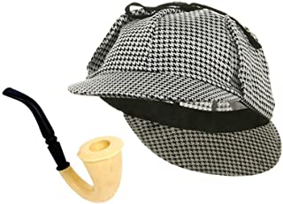 50388d08c41 Funny Party Hats Detective Hat and Pipe - Sherlock Holmes Kit
