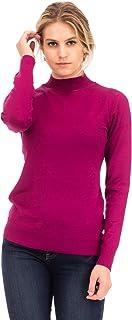 NANAVA Women's Basic Soft Long Sleeve Mock Neck Knit Sweater Top