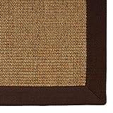 casa pura® Sisal Teppich aus Naturfasern | Kork | mit Bordüre aus Baumwolle | pflegeleicht | Größe wählbar (70x130 cm)