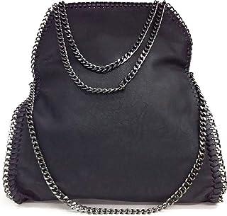 64358bc275086 Limited-Colors Vivien aspect cuir sac à main sac à main Jean pour femme Noir