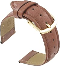 Hadley Roma MS724 18mm Regular Honey Stitched Genuine Pigskin Men's Watch Band