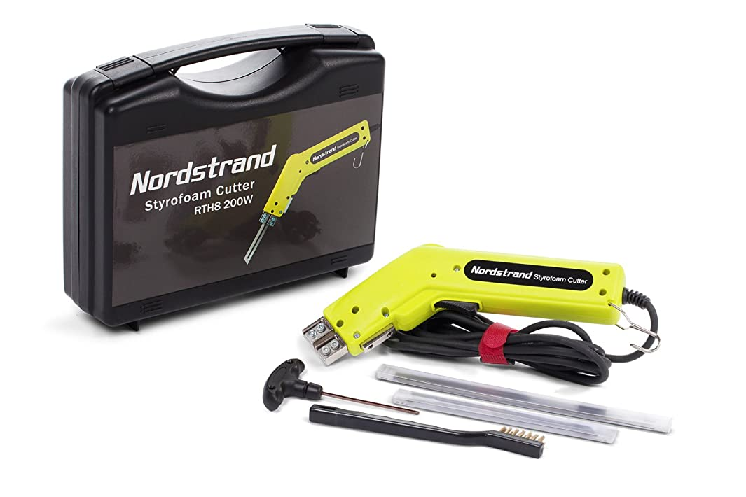 200W Nordstrand Pro Electric Hot Knife Styrofoam Foam Cutter Tool - with Blades & Accessories