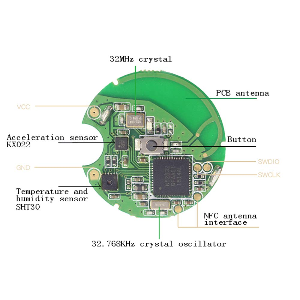 nRF52810 no Sensor Taidacent nRF52832//52810 Beacon Wristband Positioning Bluetooth Beacon Indoor Navigation with Sensor Waterproof iBeacon