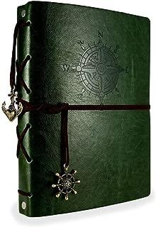 ThxMadam Álbum de Fotos de Piel Libros de Firmas para Boda Scrapbooking Album Cuaderno de Cuero Diario de Viaje Vintage Regalo Original para Aniversario de Boda Cumpleaños Navidad