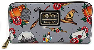 x Harry Potter Relics Tattoo Allover-Print Wallet
