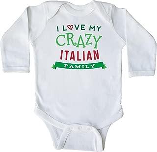 inktastic Italian Family Heritage Long Sleeve Creeper
