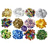 Asian Hobby Crafts 5mm Mix 12 Type Rainbow Sequin forCrafts & Jewellery Making : (5g x12 Box) Pack of 60g
