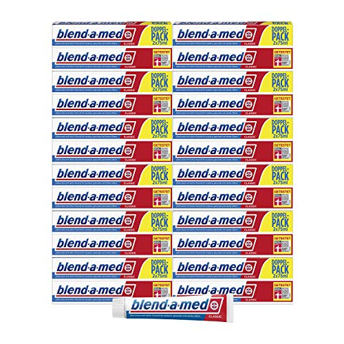 Blend-a-med Classic Zahncreme Duopack 2 x 75ml, 12er Pack (24 x 75 ml)