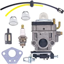 NIMTEK NEW WYK-74 Carburetor with Fuel Filer Spark Plug Fuel Linke Kit For Husqvarna 145BT KAWASAKI TE45DX Blower Walbro WYK-74-1