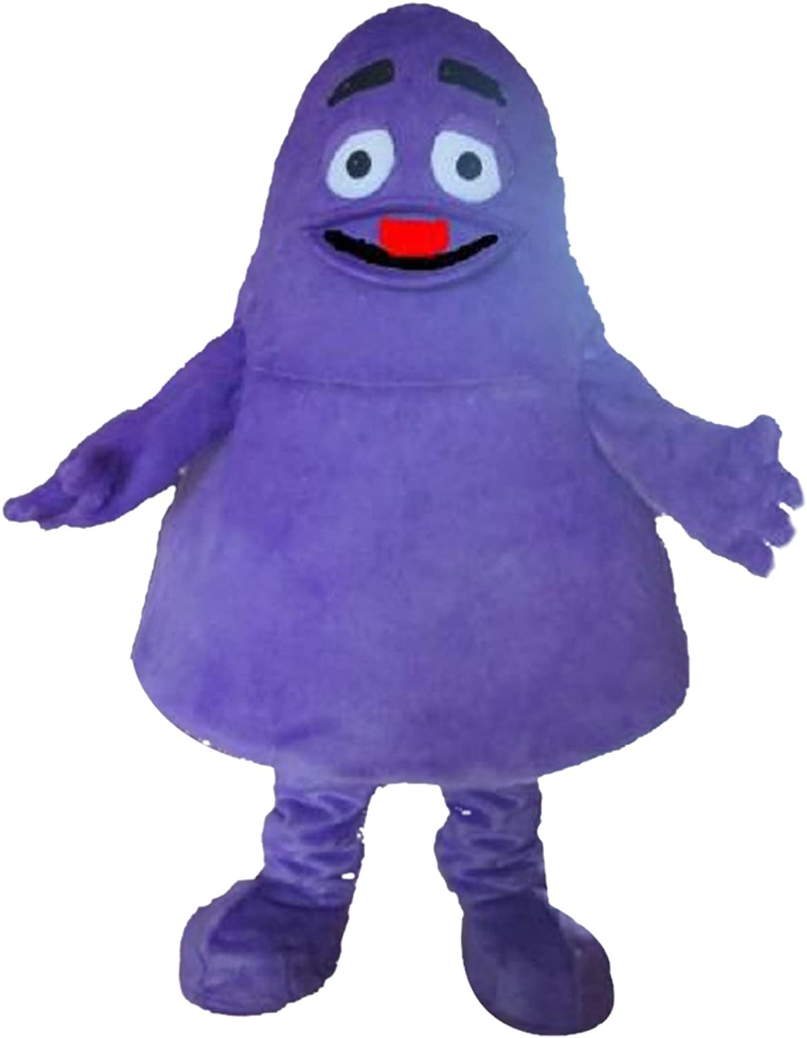 Grimace Purple Monster Mascot Costume Real Picture