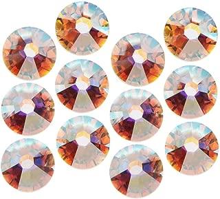 SWAROVSKI ELEMENTS Crystal Rhinestones, #2038 Xilion Flatback Hotfix, ss16, 50 Pieces, Crystal AB