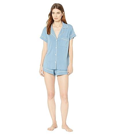 Eberjey Gisele Basics Short PJ Set (Blue Shadow/Blush) Women