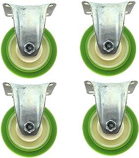 Peakfeng 4times; Swivel Wheels Furniture Universal Caster Met Remmen Rubber Wiel Voor Tapijt Hardhouten Vloeren Laminaat E...