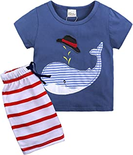 Zeside Toddler Kids Boys Dinosaur Summer Pajamas Sleepwear Tops Pants Outfits Set Sunshine Breathable Travel Casual Fashion Clothes Home Cute Comfort Clothes Photo Props Party Clothes-100/% Genuine
