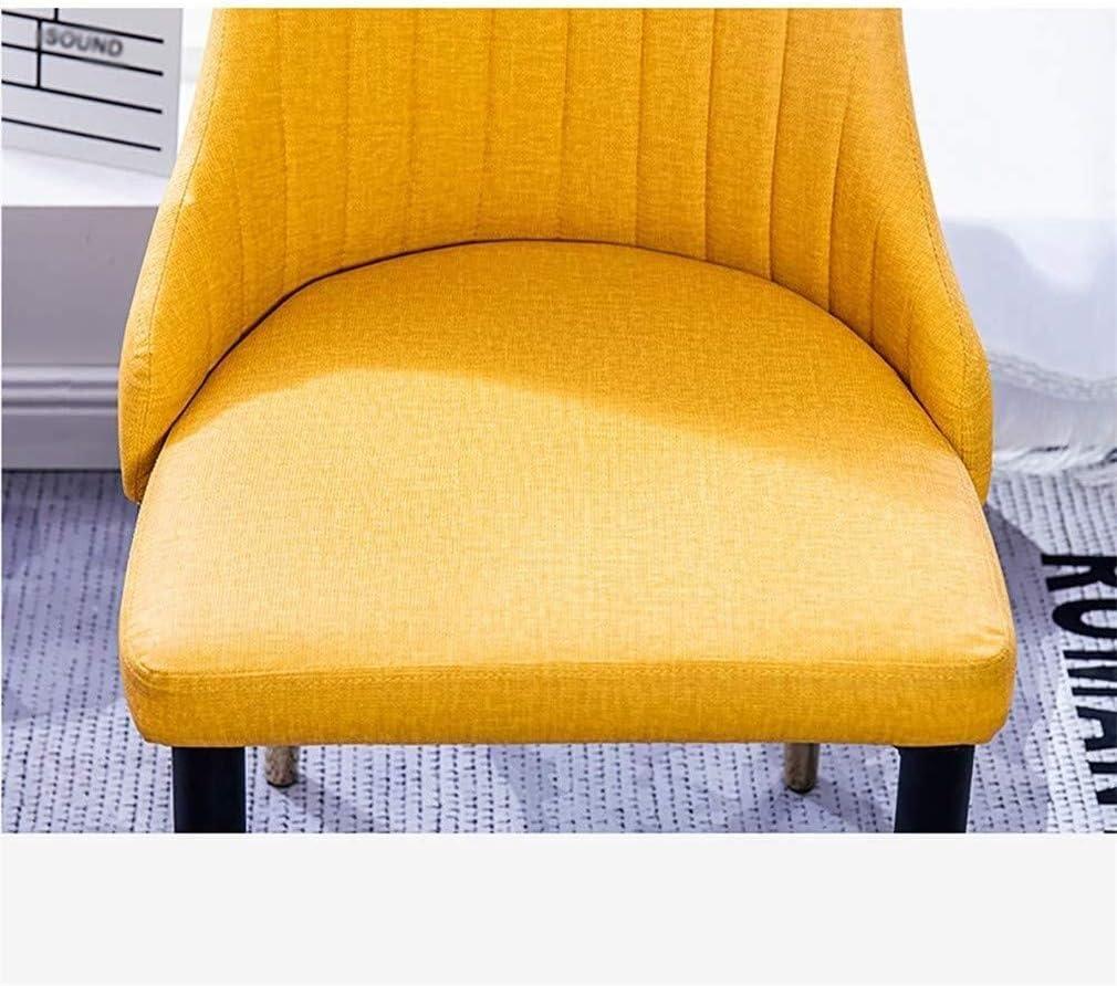 LMZJLU Chaise de canapé à Dossier à la Maison, Chaise Longue de Balcon Confortable, Chaise de Salle à Manger en Similicuir résistant aux Rayures et Facile à Nettoyer Beige
