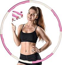 Hoelahoepband voor volwassenen, hoelahoepbanden, fitness hoelahoep, fitness hoelahoep, voor gewichtsvermindering, 8 segmen...