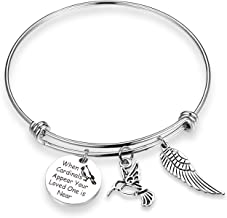EIGSO Memorial Bracelet When Cardinals Appear Your Loved One is Near Cardinals Bracelet Wing Hollow Bird Sympathy Gift Memorial Jewelry Family Loss of Mom Dad Remembrance Bracelet