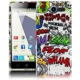 thematys Passend für ZTE Blade L3 - Comic HAHA Silikon Schutz-Hülle weiche Tasche Cover Hülle Bumper Etui Flip Smartphone Handy Backcover Schutzhülle Handyhülle