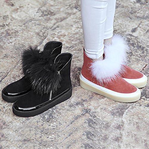 Xie Bottes Mode Neige d'hiver en Cuir Bottes Femmes Duantong Chaudes Chaussures antidérapantes à Fond épais