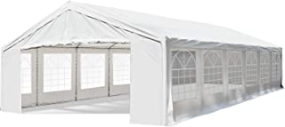 Outsunny 20` x 40` Commercial Party Capony Tent Heavy Duty Carport with Removable Sidewalls, White