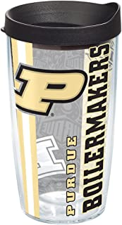 Tervis Purdue Boilermakers College Pride Tumbler with Wrap and Black Lid 16oz, Clear