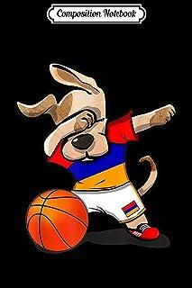 Composition Notebook: Dabbing Dog Armenia Basketball Jersey Armenian Sport Team Journal/Notebook Blank Lined Ruled 6x9 100...