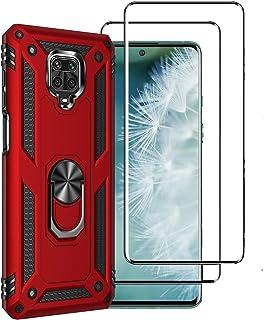 XIFAN Funda para Xiaomi Redmi Note 9S/9 Pro/9 Pro MAX + [2 Pack] Vidrio Templado, [Funciona con El Montaje De Coche Magnét...