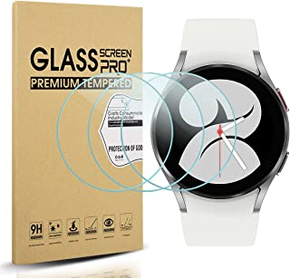 Suoman 3-Pack for Samsung Galaxy Watch 4 40mm Screen Protector Tempered Glass for Galaxy Watch 4 40mm Smartwatch [2.5D 9H Hardness] [Perfectly Fit]