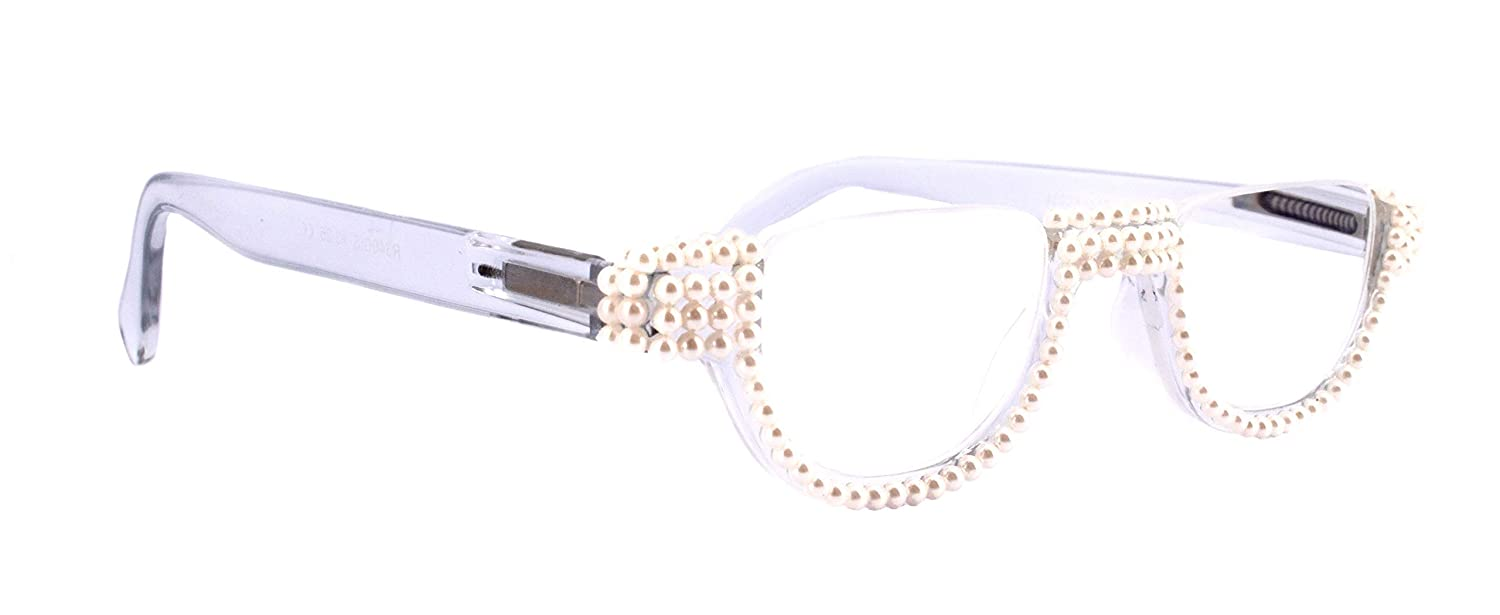The Half National products Moon depot Clear Translucent Bling Ad Women Glasses Reading