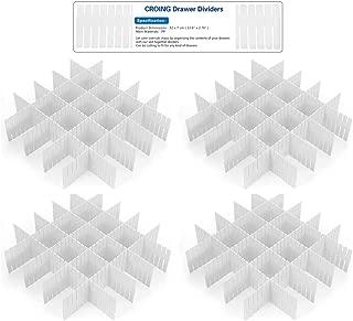 CROING - 32 pcs Blanco -Organizador de Cajones, Cajones