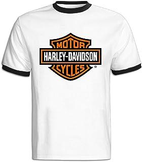 Hombres de Harley Davidson Motocicleta Logo Camiseta de Bloque de Color