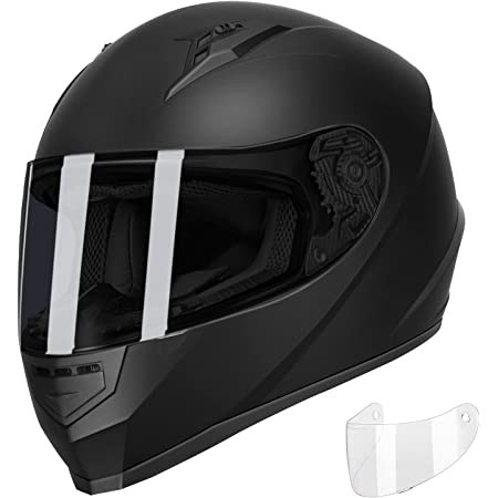 GLX GX11 Compact Lightweight Full Face Motorcycle Street Bike Helmet with Extra Tinted Visor DOT Approved