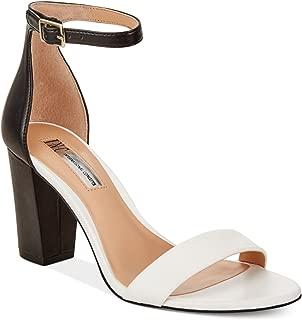 International Concepts Kivah Block Heel Dress Sandals Whiteblack 8.5M