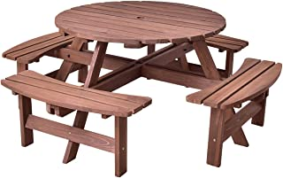 picnic table seats 8