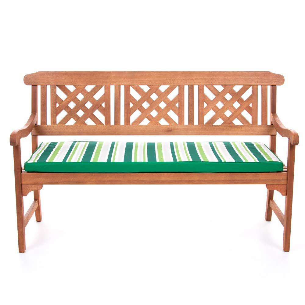 Medium 2 Seater 250 GSM 22D Foam Waterproof Outdoor Garden Swing Bench Cushion