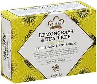 Nubian Heritage Lemongrass & Tea Tree Bar Soap, 5 oz (Pack of 3)