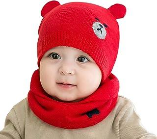ADESUGATA Cappello del Bambino,Cappello del Beanie del Bambino Berretto Cappello Invernale a Maglia Bambini del Bambino Ca...