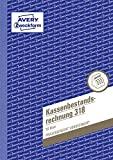 AVERY Zweckform 318 Kassenbestandsrechnung (A5, von Rechtsexperten geprüft, für Deutschland und Österreich zur ordnungsgemäßen, kostengünstigen...